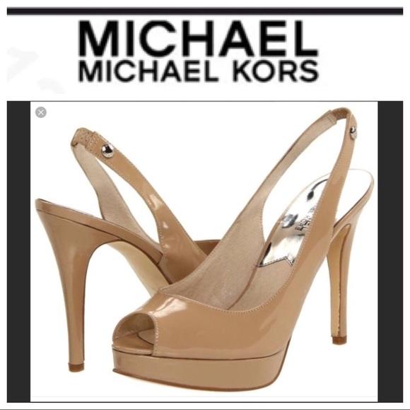 e149a069ea MICHAEL Michael Kors Shoes | Nwt Michael Kors York Nude Slingback ...